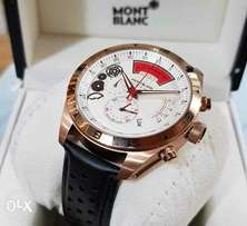 Mont Blac leather wristwatch