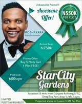 BUY 5PLOTS AND GET 1 FREE at StarCity Garden Estate