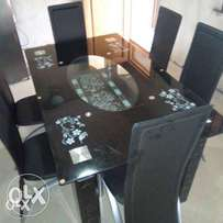 Six Seater New Glass Dining Table Set (Imported