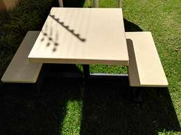 Solid outside table