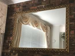 Large Mirror with a Gold-finished frame