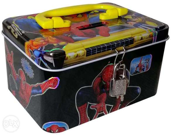 Brand New Cuboid Money Box - SpiderMan