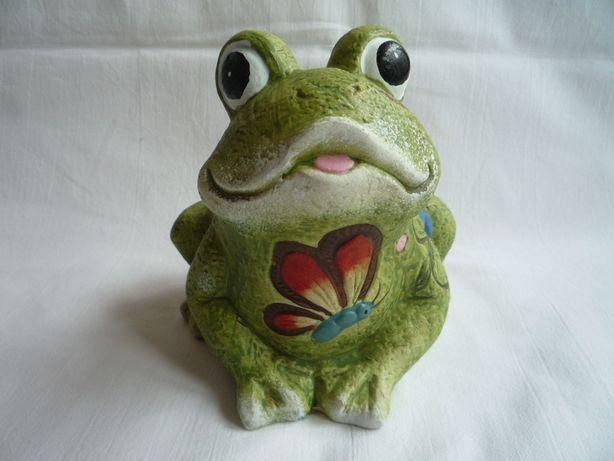 Nowa żaba żabka Zielona Figurka Ceramika Dla Kolekcjonera