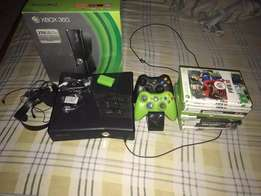 Xbox 360 Console With 13 Games Disks And 2 Wireless Controllers
