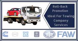 FAW Roll-Back Specials & Free Service Plans on our 5- & 8-ton Trucks