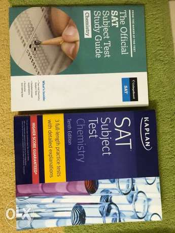 SAT Chemistry 2 books Kaplan and college board