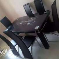 Top quality padded glass dinning table