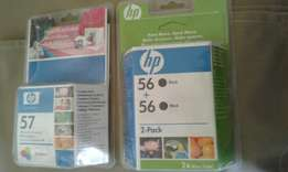 HP Printer ink. Black and colour