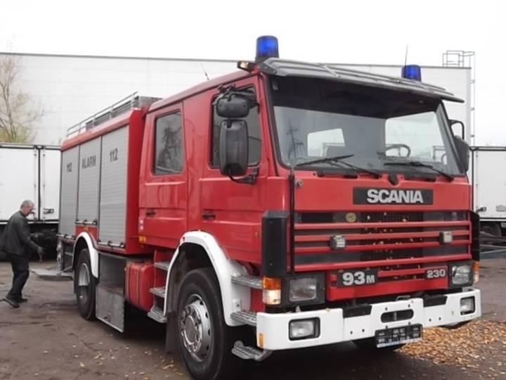 Scania Feuerwehr/rüstwagen/ P93m - 1991