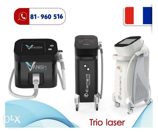 Trio laser hair removal machines