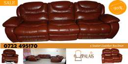 Sofa Set- Elegant, New, Full Leather Recliner Sofa Set on Offer