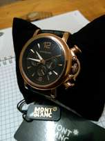 Mont blanc rose gold watch(deliveries)