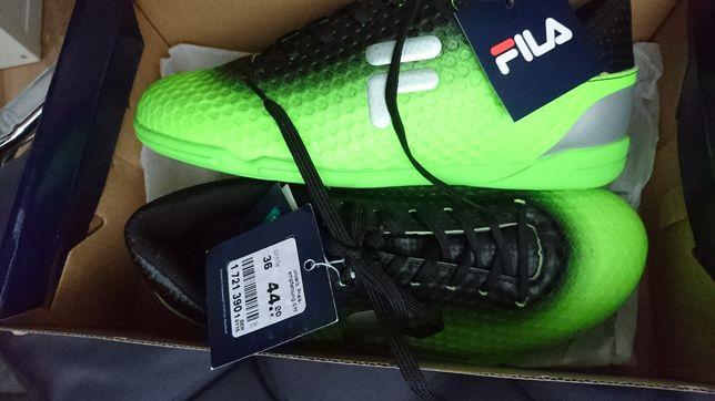 Sportowe buty adidasy FILA nowe r 36 zieloneczarne srebrne
