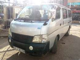 Quick Sale! Nissan Caravan 2002 For Sale Asking Price only 490,000/=