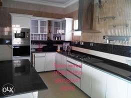 Complete modern design kitchen cabinets and wardrobe