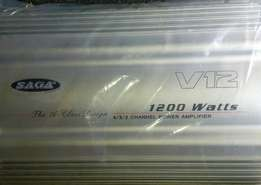 V12 amplifier SAGA 1200w, Free delivery within Nairobi cbd.