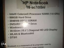 HP notebook 15_AC100NI for sale
