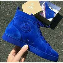 Christian Louboutin Suede Hi-Top Sneakers - Blue