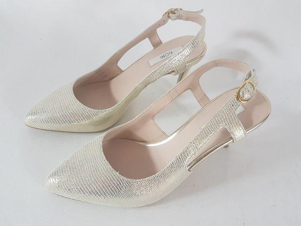 KIOMI SKÓRA NATURALNA sandały damskie skóra ROZ 36 Dulcza