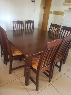 Square Dining Room Table And Chairs 8 Seater