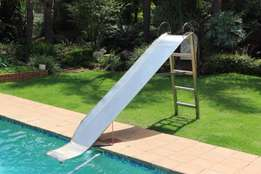 Stainless steel water slide with hosepipe connection for water fountai