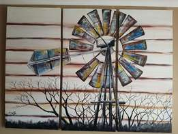 Painting - windmill