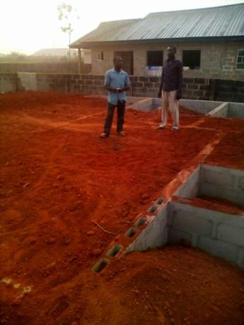 A plot of land with a new foundation at igbogbo ikorodu Lagos Ikeja - image 2