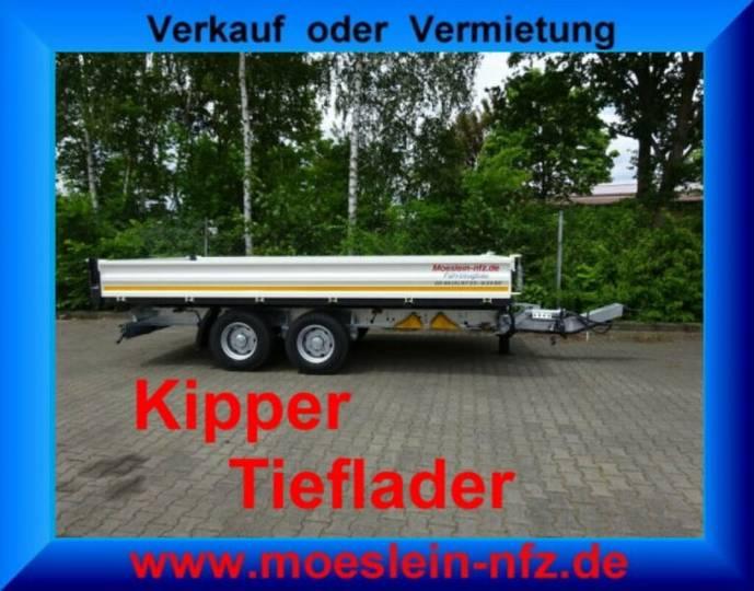 Möslein TTD 11 Weiß Tandem 3- Seitenkipper Tieflader-- N - 2019