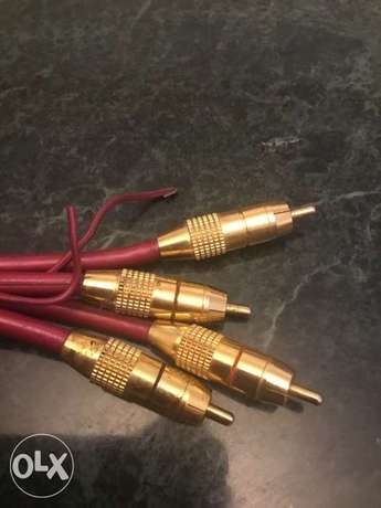 gold plated super sheld rca cable car systems audio Original