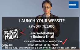 75% Off on New Website Design + Free Hosting + Free Business Email