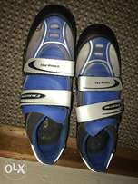 Blue bicycle shoes