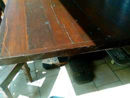 Rhodesian Teak Dining Table with chairs