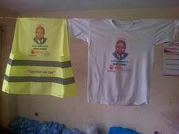 Campaign T/shirts- with picture- front and back ksh 250/-