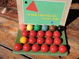 Snooker balls complete set unused ,in box. Crystalate,English Made.