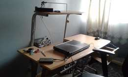 Wooden and Steel Workstation
