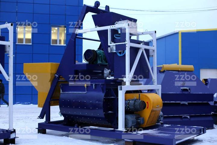 ZZBO Twin-shaft Concrete Mixer With Skip Bp-2g-1500s - 2019