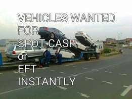 Vehicles wanted in any condition