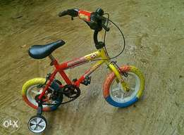 Kids Bicycle with support.