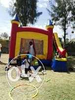 kids bouncing castles,trampoline,facepainting and clown