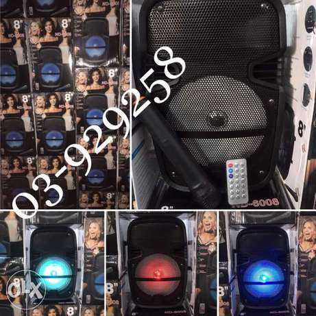 "Trolly Karaoke multimedia Speakers 8"" with wireless microphone شويفات -  1"