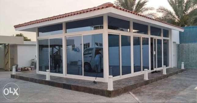 Glass and Aluminum room partitions