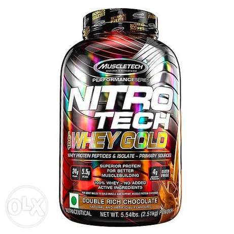 Whey protein nitro tech whey gold 73S - واي بروتين أمريكي (أقرأ الوصف)