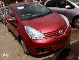 Nissan note red color fresh import new plate number