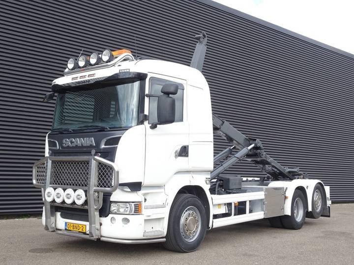 Scania R520 V8 EURO 6 / 6X2 / HIAB 22T HOOK LIFT - 2014
