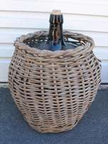 20 Litre Glass Demijohn In Wicker Cover