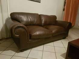 2 x Stunning Kudu Leather Couches.