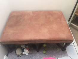 Faux Suede Table/Seat