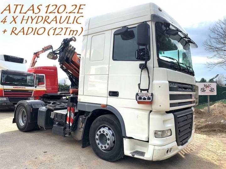 DAF XF 105.410 SC + KRAN ATLAS 120.2E (12Tm) 4x HYDRAULICS + - 2012
