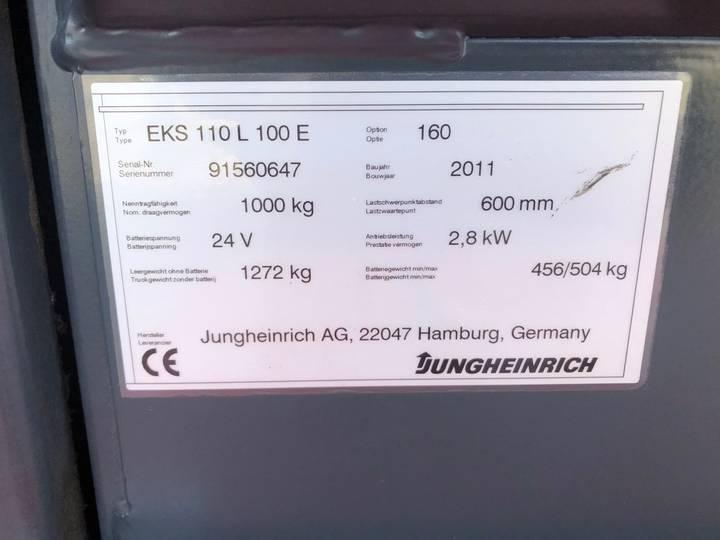 Jungheinrich EKS 110L 100 E Pallettruck - image 5