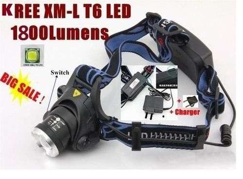 1800 Lumens KREE T6 LED Rechargeable Headlight Zoom in & Zoom out Sunridge Park - image 2